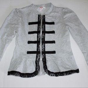 Bongo Girls Gray Asian Inspired Sweatshirt Jacket